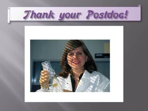Thank your Postdoc