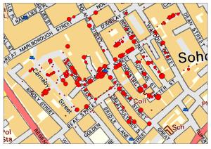 John Snow's  map