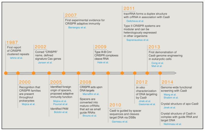 Crispr cas9 history and engineering