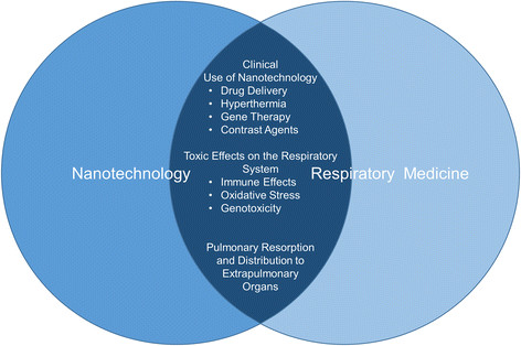 nanotechnology affects respiratory medicine in three main areas